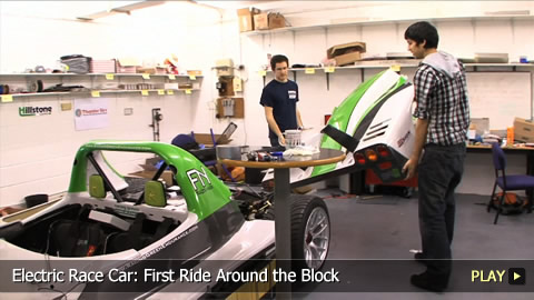 Electric Race Car: First Ride Around the Block