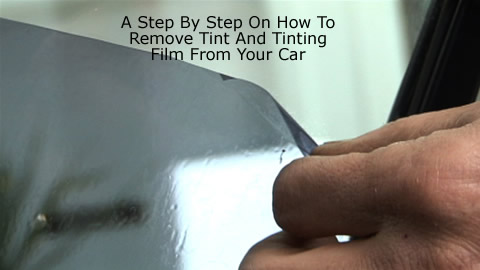How To Remove Car Window Tint