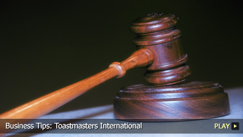 Business Tips:  What is a Toastmaster