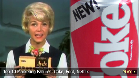 Top 10 Marketing Fails: Coke, Ford, Netflix