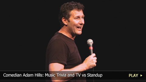 Comedian Adam Hills: Music Trivia and TV vs Standup
