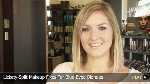 Lickety-Split Makeup Fixes For Blue-Eyed Blondes