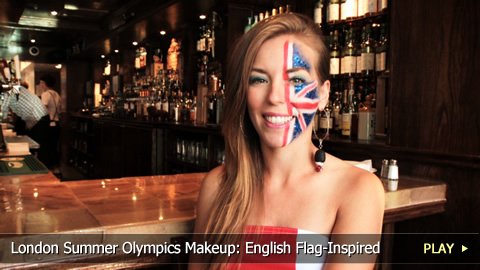 London Summer Olympics Makeup: Union Jack-Inspired