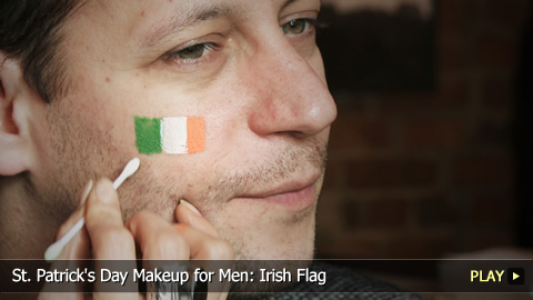 St. Patrick's Day Makeup for Men: Irish Flag
