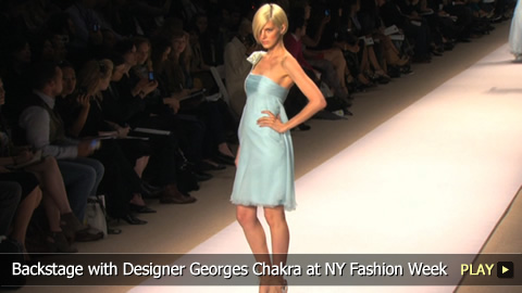 Backstage with Designer Georges Chakra at New York Fashion Week