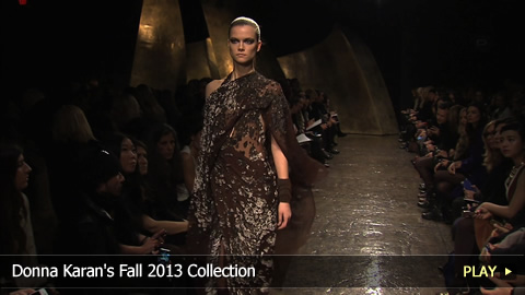 Donna Karan's Fall 2013 Collection at Mercedes-Benz Fashion Week: New York