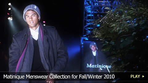 Matinique Menswear Collection for Fall/Winter 2010