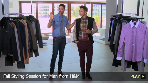 Fall Styling Session for Men from H and M