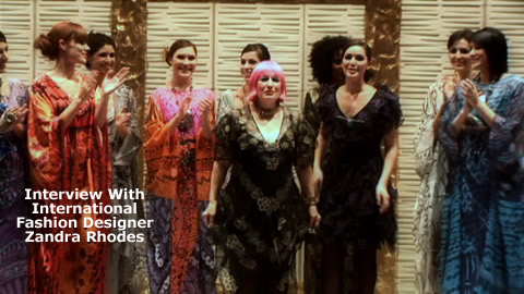Interview With International Fashion Designer Zandra Rhodes
