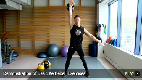 Basic Kettlebell Exercises: Demonstration