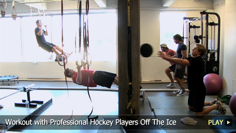 Workout With Professional Hockey Players Off The Ice