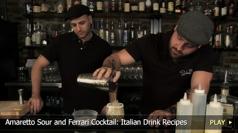 Amaretto Sour and Ferrari Cocktail: Italian Drink Recipes