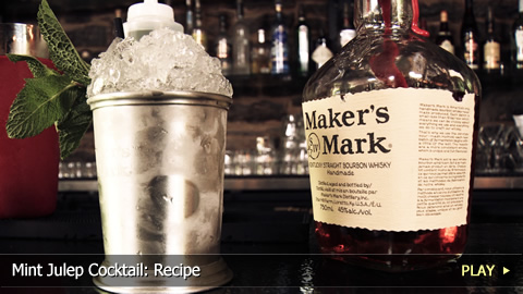Mint Julep Cocktail: Recipe