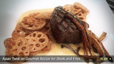 Steak and Fries: Gourmet Recipe with Asian Twist