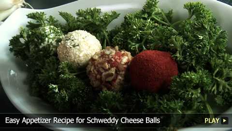 Easy Appetizer Recipe for Schweddy Cheese Balls