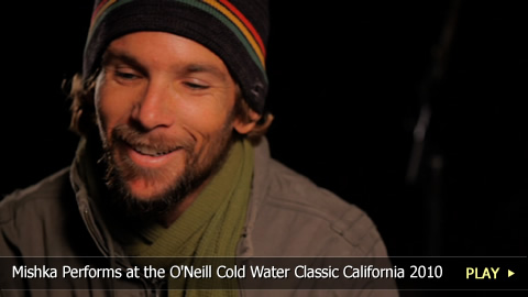 Reggae Singer Mishka Performs at the O'Neill Cold Water Classic California Surfing Competition 2010