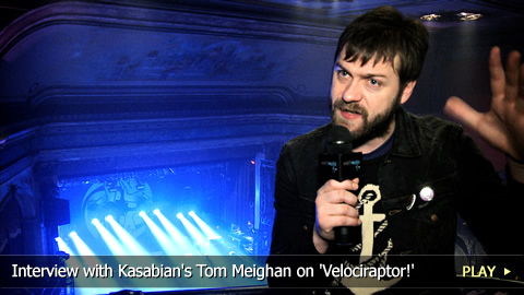 Interview with Kasabian's Tom Meighan on 'Velociraptor!'