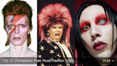 Top 10 Outrageous Male Music Fashion Icons