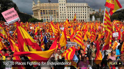 Top 10 Places Fighting for Independence