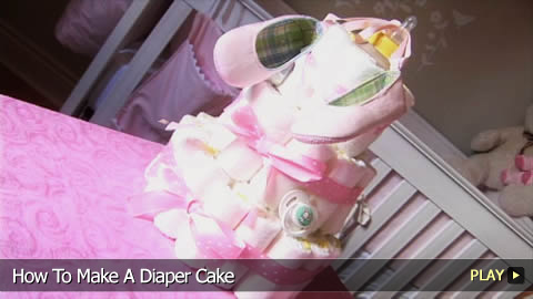 Step By Step Instructions To Make A Diaper Cake Watchmojo