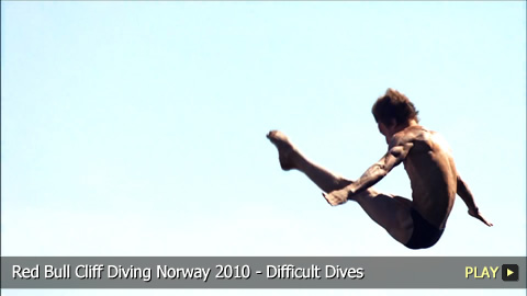 Red Bull Cliff Diving Norway 2010 - Difficult Dives