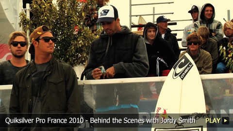 Quiksilver Pro France 2010 - Behind the Scenes with Jordy Smith