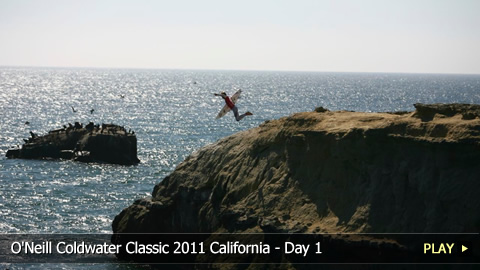 Surfing Highlights From O'Neill Coldwater Classic 2011 in California - Day 1