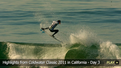 Surfing Highlights From O'Neill Coldwater Classic 2011 in California - Day 3