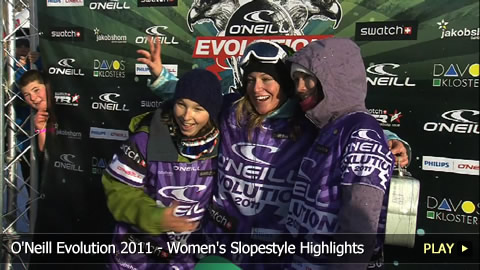 O'Neill Evolution 2011 - Women's Snowboarding Slopestyle Highlights