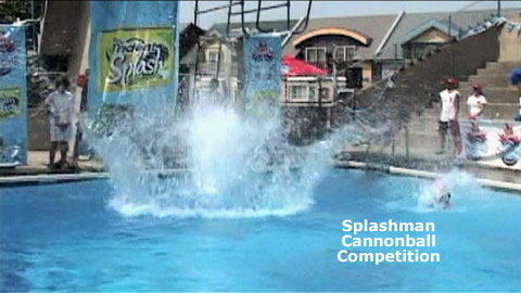Splashman Cannonball Competition