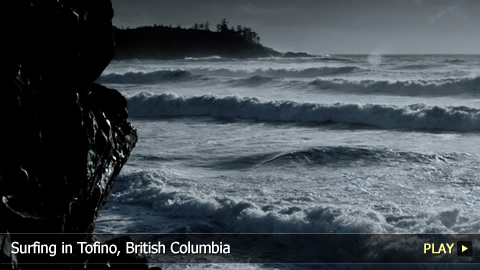 Surfing in Tofino, British Columbia