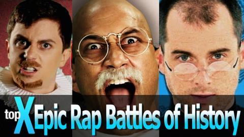 Top 10 Epic Rap Battles of History -  TopX Ep.18