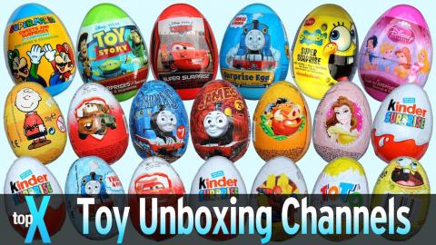 Top 10 YouTube Toy Unboxing and Surprise Eggs Channels -  TopX Ep.21