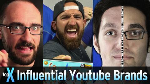 Top 10 Influential YouTube Brands - TopX Ep.45