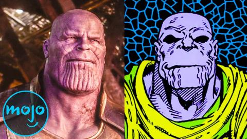 Top 10 Differences Between Infinity War Movie And Comic
