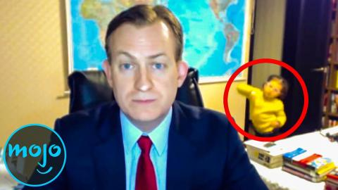 Top 10 Times Bystanders Ruined News Broadcasts