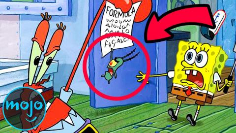 Top 10 Times Plankton Almost Got the Krabby Patty Formula