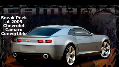 Profile On Chevy Camaro Convertible Concept