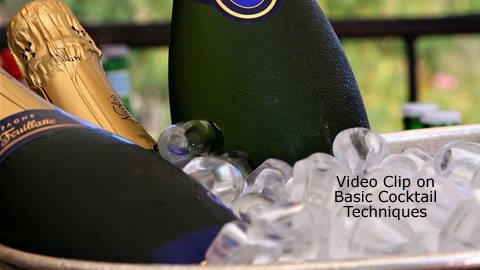How to Frost a Glass and Chill a Champagne Bottle