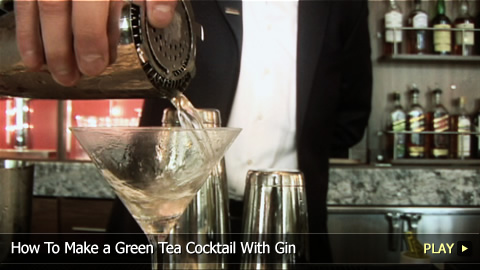 How To Make a Green Tea Cocktail With Gin