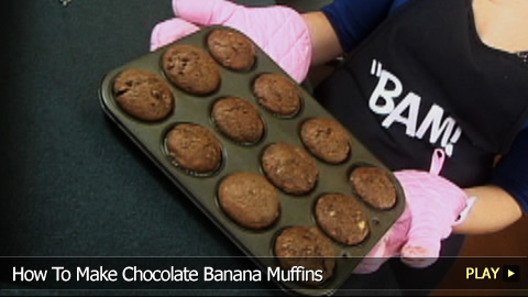 Double Chocolate Banana Muffin Recipe