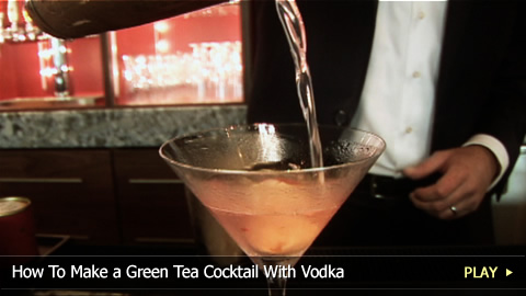 How To Make a Green Tea Cocktail With Vodka