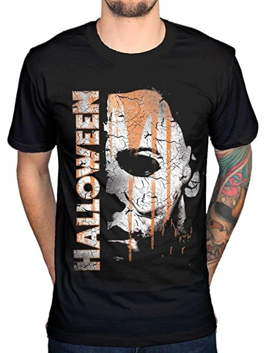 Official Halloween Mask And Drips T-Shirt