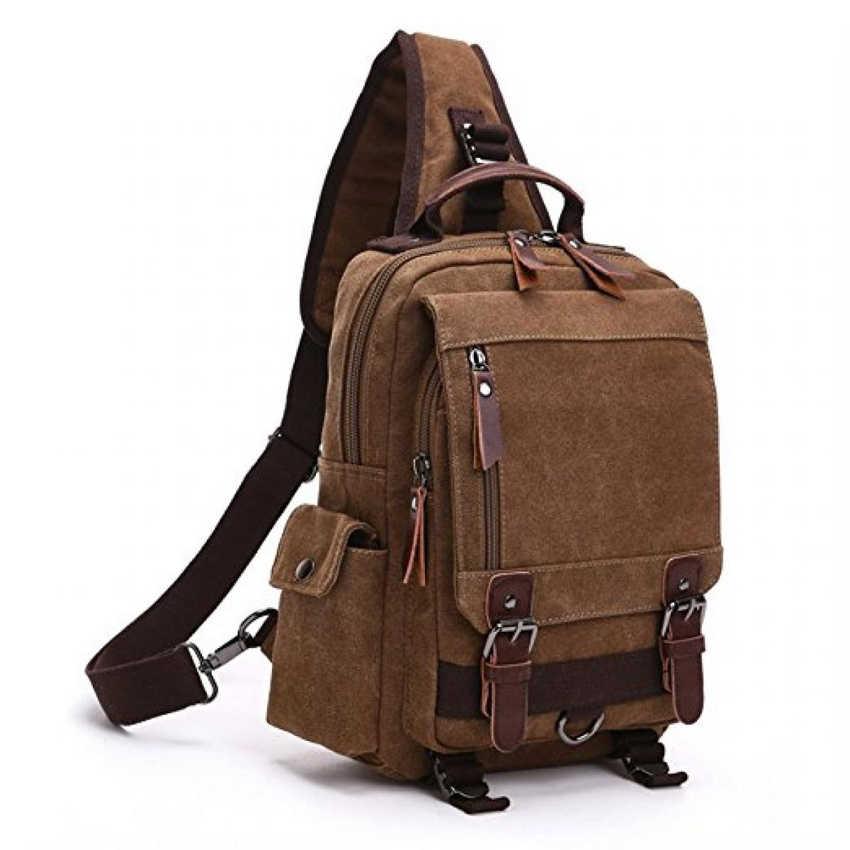 Dececos Casual Sling Bag Canvas Backpack