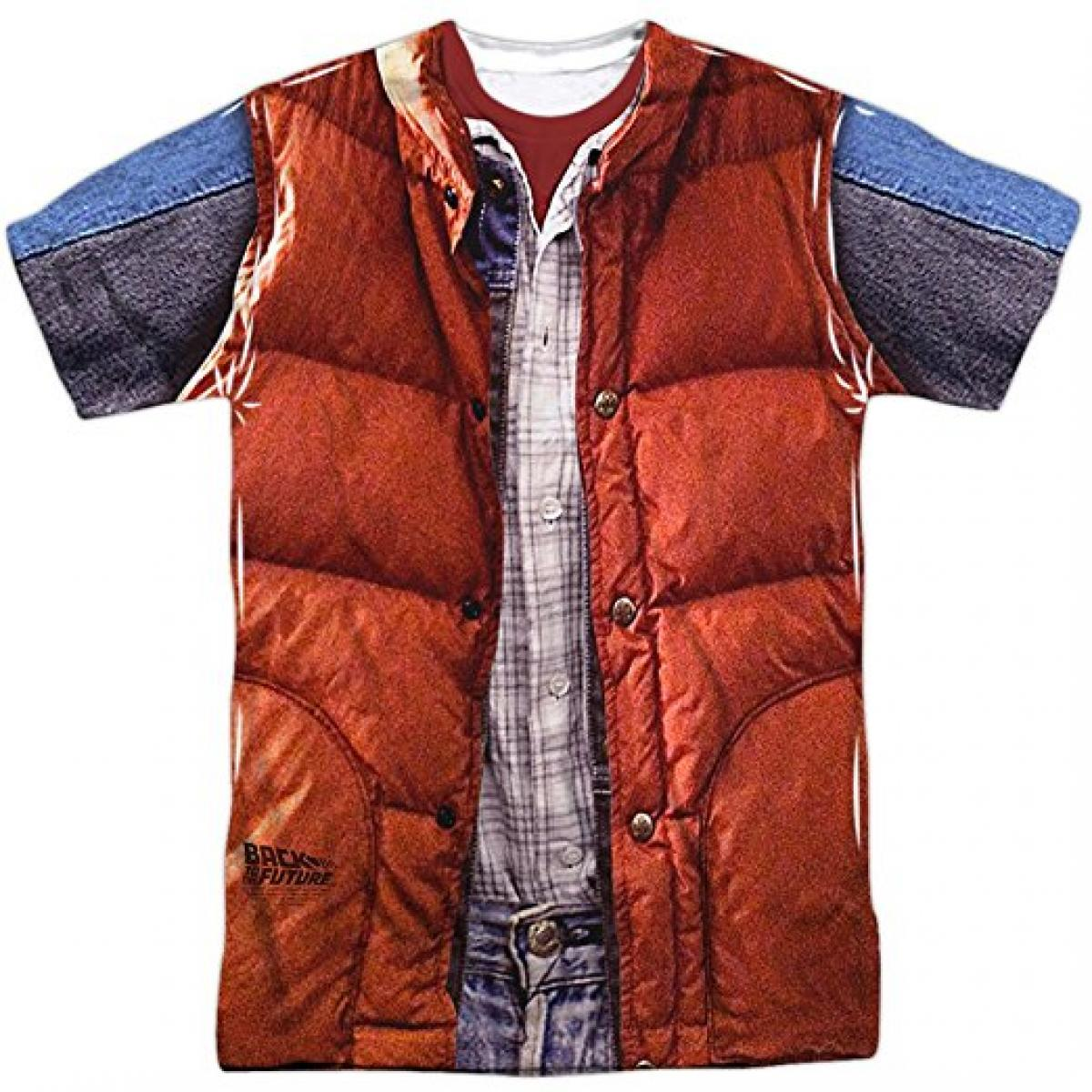 Back To The Future Men's Mcfly Vest Sublimation T-shirt