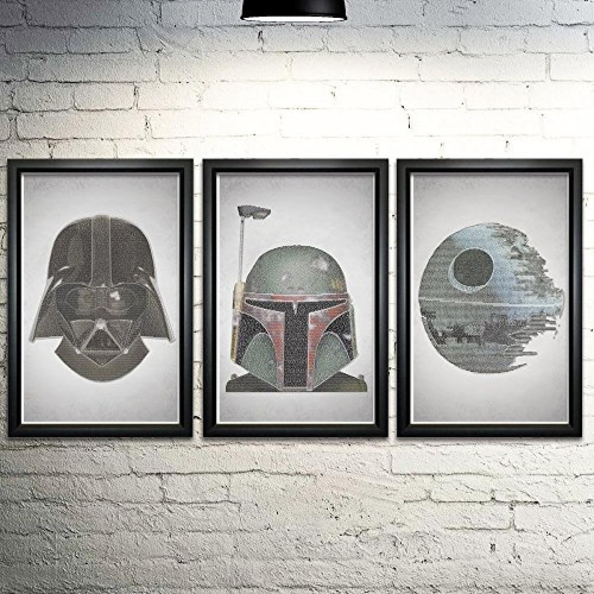 Star Wars Word Art Print Three Set