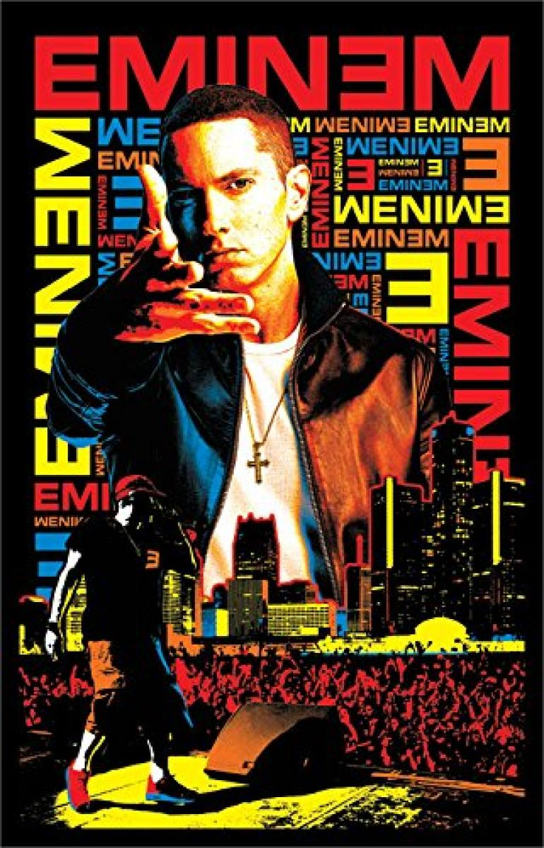 International Eminem Black Light Poster