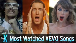 Top 10 Most Watched VEVO Songs - TopX
