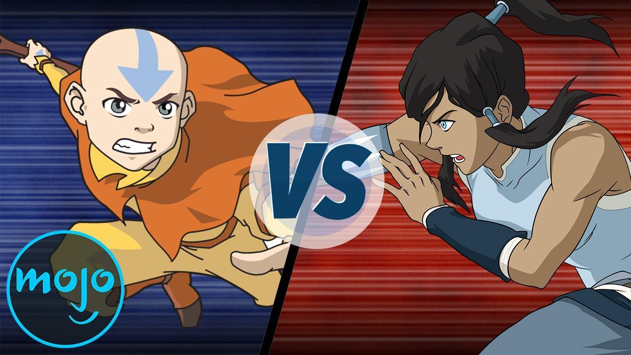 Aang Korra avatar aang vs avatar korra | watchmojo